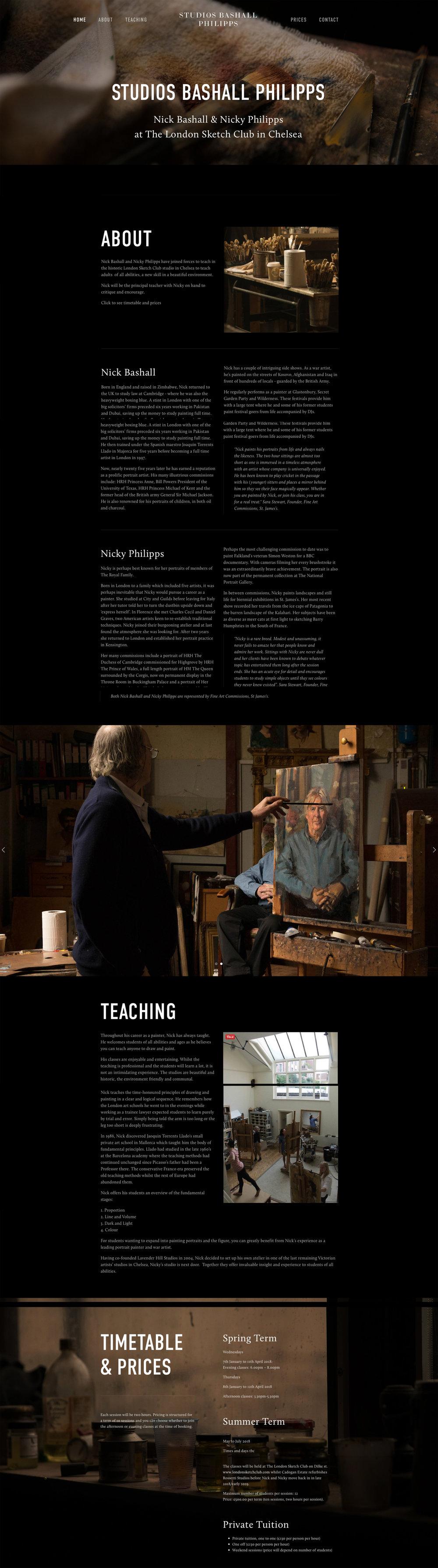 Bolter Design website design for Nick Bashall