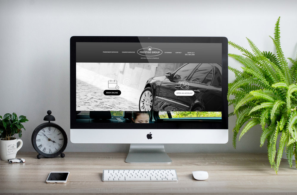 Bolter Design website design for Prestige Cars