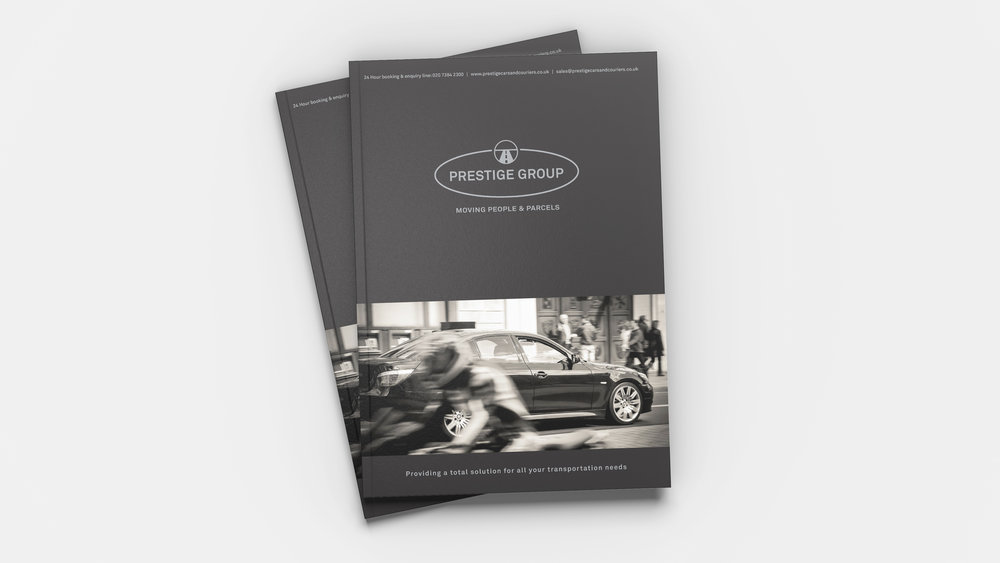 Bolter Design booklet design for Prestige Cars