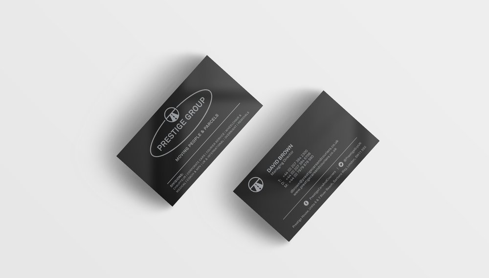 Bolter Design business card design for Prestige Cars