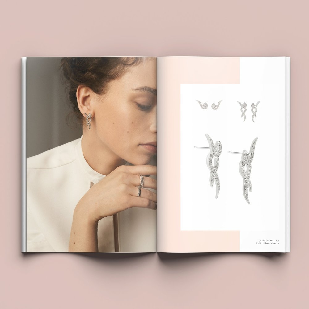 Bolter design look book design for Emma Clarkson Webb