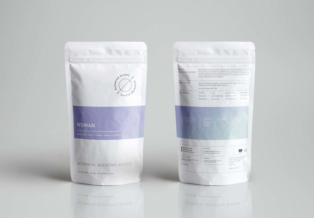 Bolter Design packaging design for Blooming Blends