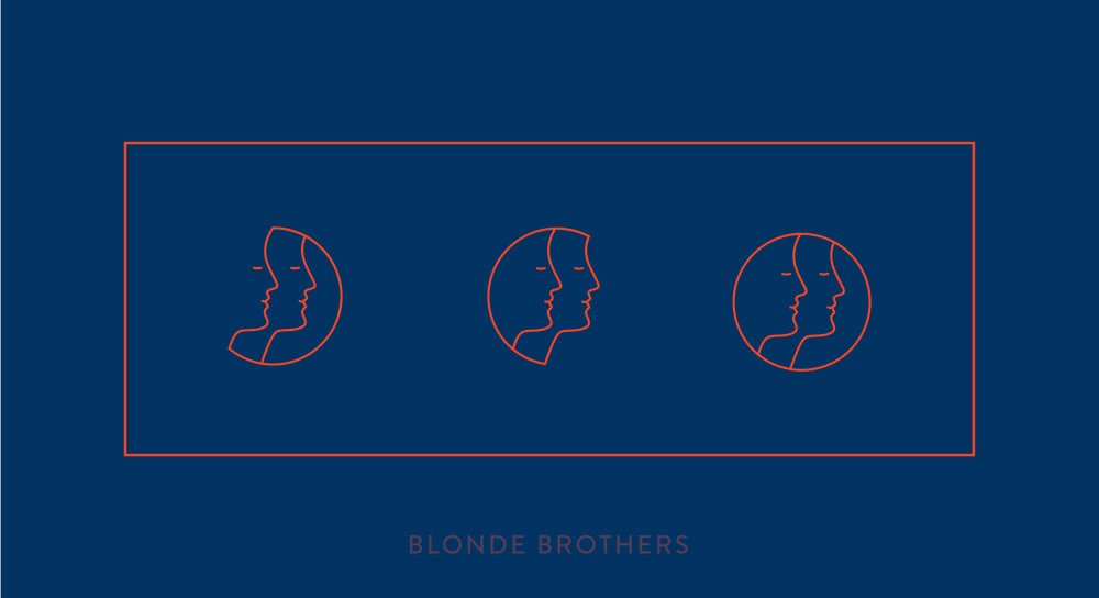 Blonde Brothers identity design by Bolter Design