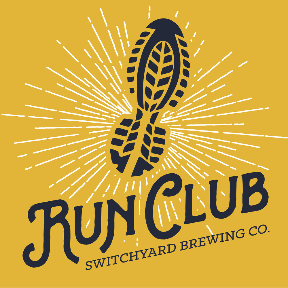 "Our Run Club meets every Monday at 6:00 PM at our downtown taproom. The Run Club is free to join!   Choose a 1.5, 3 or 5-mile family-friendly course to run or walk and earn points towards run club milestone rewards!  We formed our run club as part of our brewery's dedication to our community. Our sixth Guiding Principle of how we run Switchyard states, ""Be an active part of our community."" We believe that business can, and should be a catalyst for positive change within our community. We believe that a business has an obligation to give back to the community of which it is a part. Our run club is an extension of exactly that.  Our routes can be found on our  Run Club Facebook  page, on our  RunGo Group  or you can pick up a printout of our turn by turn directions for simple navigation at check-in.  As always, be courteous to our neighbors while running by making sure to look both ways before darting into traffic, running off to the side and letting cars pass, and be sure to give our neighbors a wave as you run by! 👋🏼  We all run the first mile together.   Be sure to arrive at the brewery a little early each run to sign in. We will track your runs for you, and for each run milestone you hit (25, 50, 75, 100) you'll receive a cool gift!  A very special thank you to the  Bloomington Area Runners Association  for their enthusiasm and for testing & facilitating the routes!"