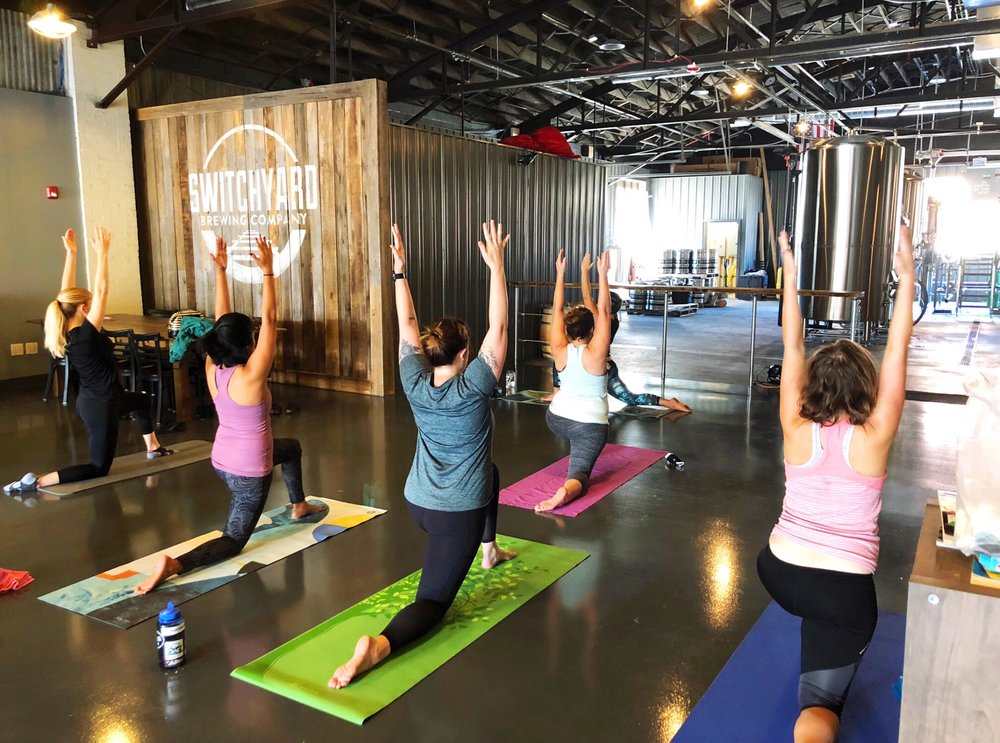 Stretch, strengthen and relax during our all-levels yoga flow class led by Quinndalyn from  Ekah Yoga ! At the end of class, stick around for a complimentary beermosa, mimosa, or pint of your favorite Switchyard beer!   10 AM - 11 AM   $10, includes beverage  Register here, or drop in!   https://clients.mindbodyonline.com/classic/ws?studioid=186906&stype=-8&sView=day&sLoc=0&date=10/14/18