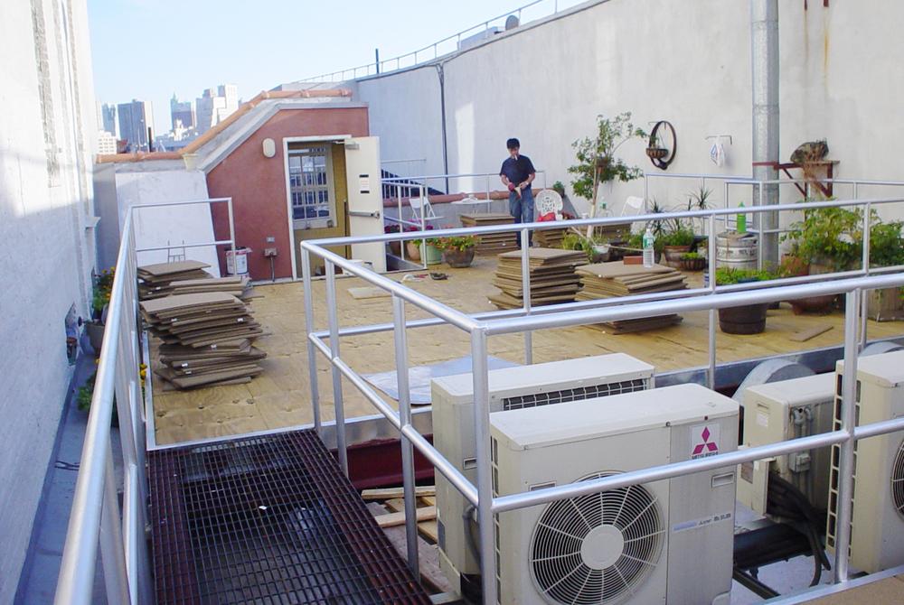 before photo of roof garden