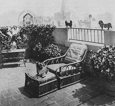 very early 19th century 5th Avenue roofgarden, House Beautiful