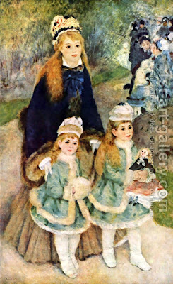 """La Promenade (Mother & Daughters)"",  August Renoir, 1875-6   Frick Collection"