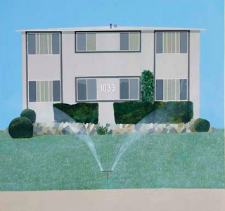"""A Neat Lawn"", David Hockney 1967 christies.com"