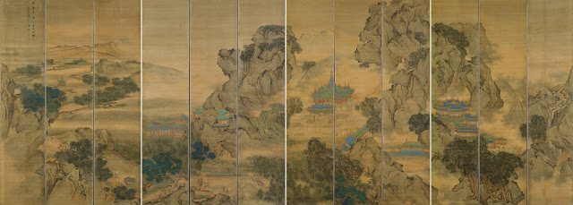 """Palace of Nine Perfections"", Yuan Jiang circa 1200 (scroll painting)"