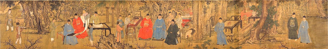 """Elegant Gathering in the Apricot Garden"", Xie Huan circa 1400"