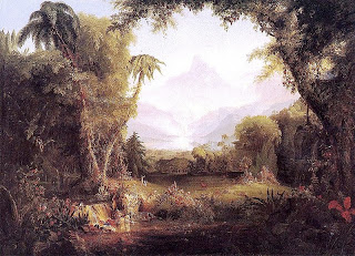 Thomas Cole (Hudson River School), The Garden of Eden 1828  wikimedia commons
