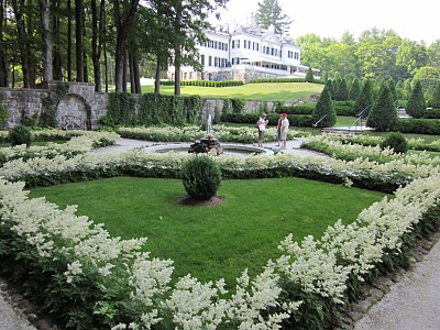 View of the flower gardens