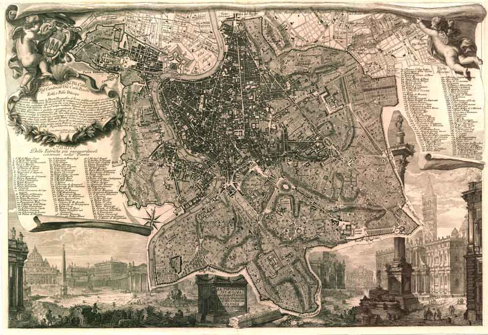 Map of Rome, figure ground