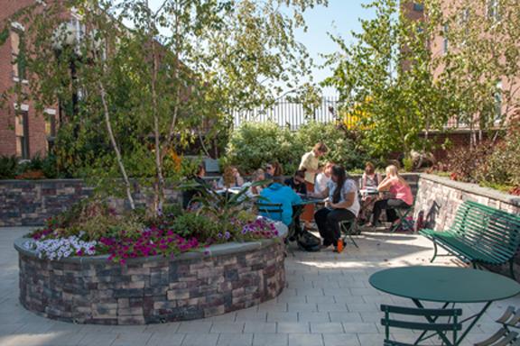 Outdoor classroom in garden