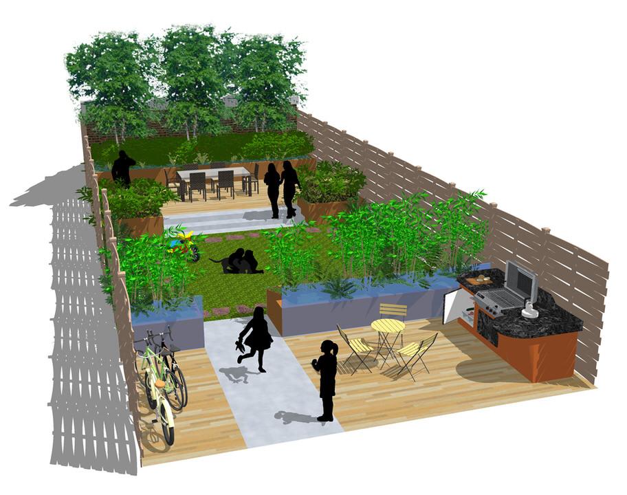 Residential garden design plan
