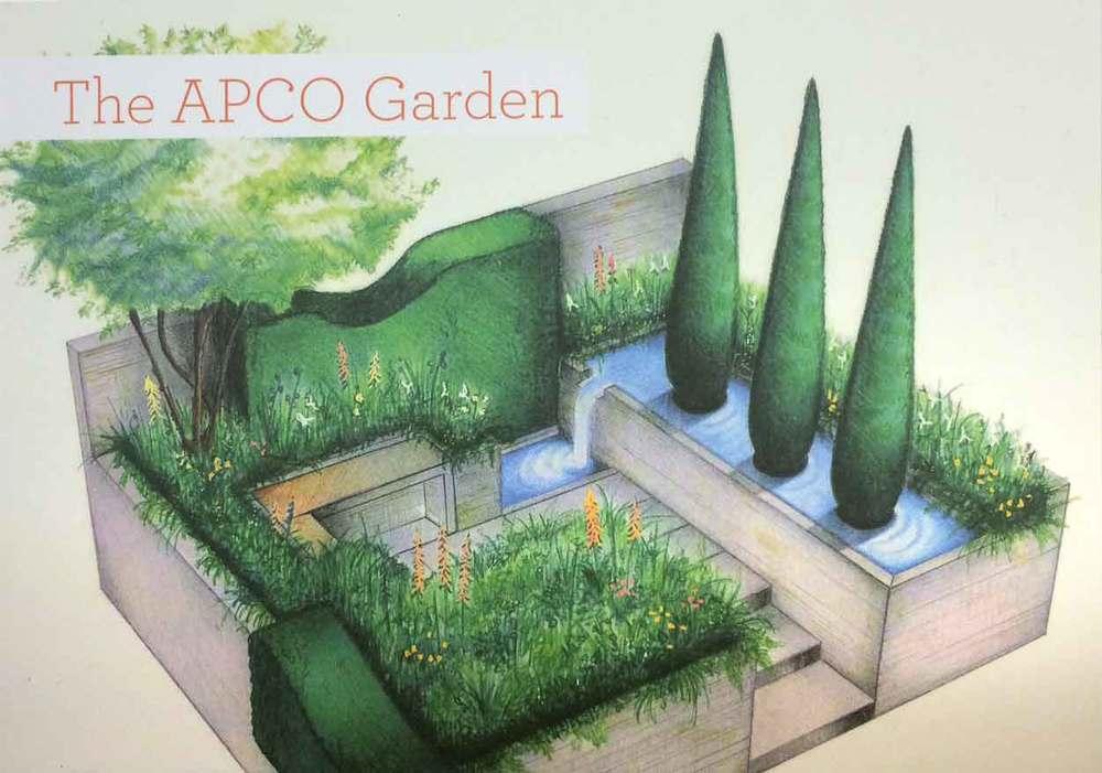 Illustration Of Italian Garden Design From RHS Catalogue