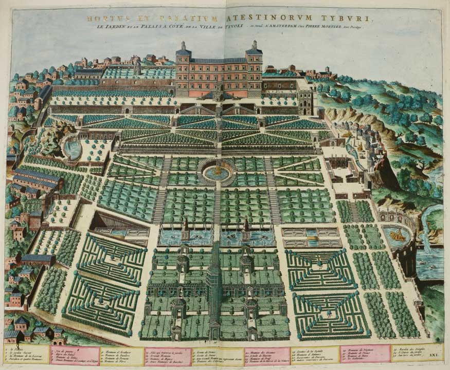 Map Of Villa Du0027Este Gardens