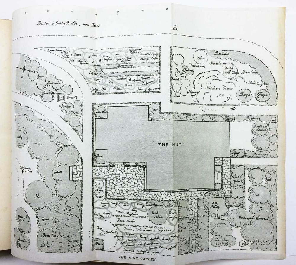 planting plan around building by Gertrude Jekyll