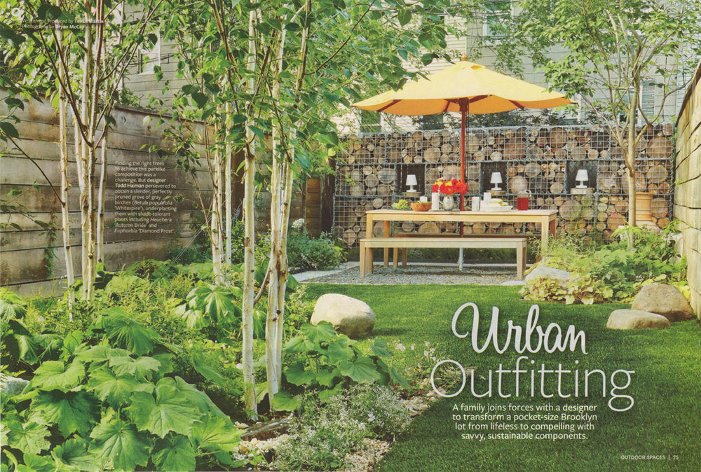 Brooklyn NYC Garden Design Featured In Better Homes And Gardens Magazine