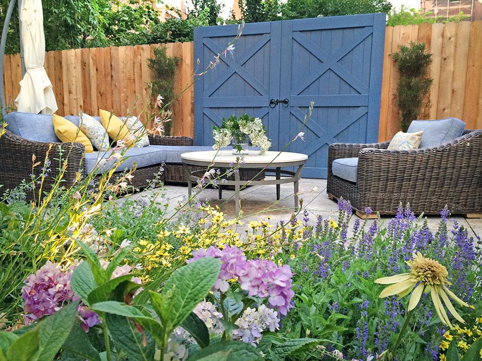 Small Brooklyn Garden Design With Folly