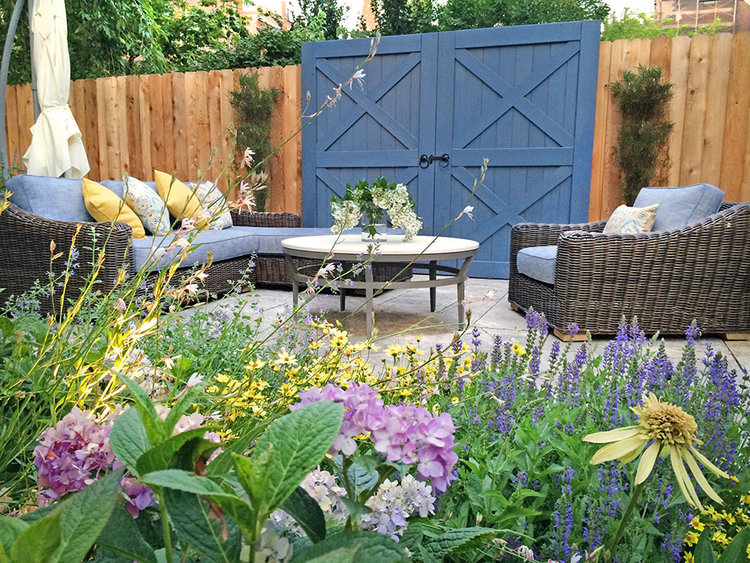 garden design landscaping. Small Brooklyn Garden design with folly Todd Haiman Landscape Design