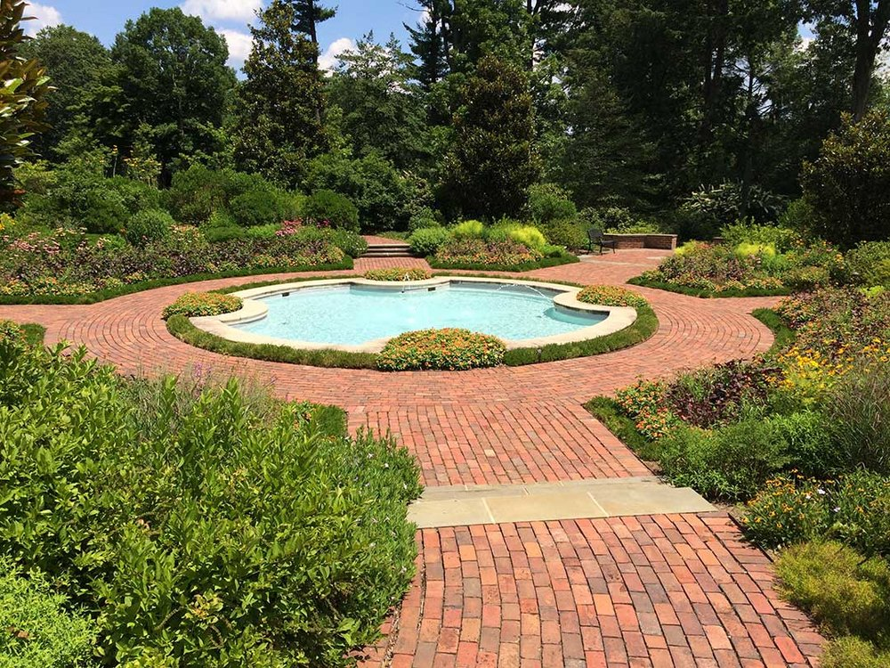 Formal garden with native plants at Mt. Cuba