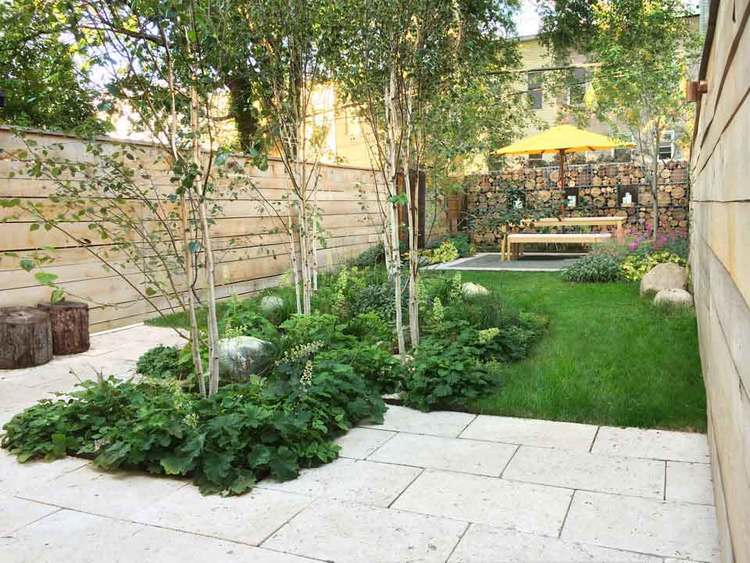 Brooklyn garden design for a narrow space