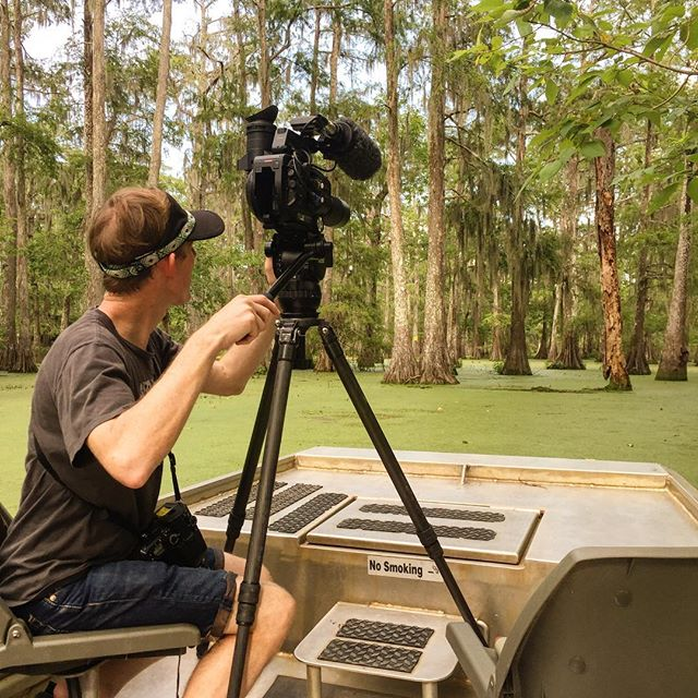 Director @johnfiege hard at work in the swamps of South Louisiana
