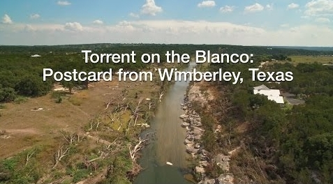 Torrent on the Blanco: Postcard from Wimberley, Texas