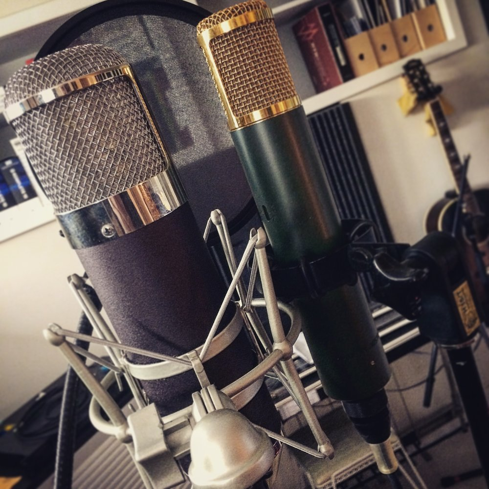 These mics cost more than any equipment I own. Combined. Friends are good.