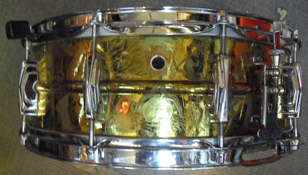 "W.F.L. (Ludwig)   ""Supra""Model 401  Heavy Brass 5x14 (1958)"