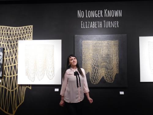 Artist  Elizabeth Turner  at  Lamplight Gallery