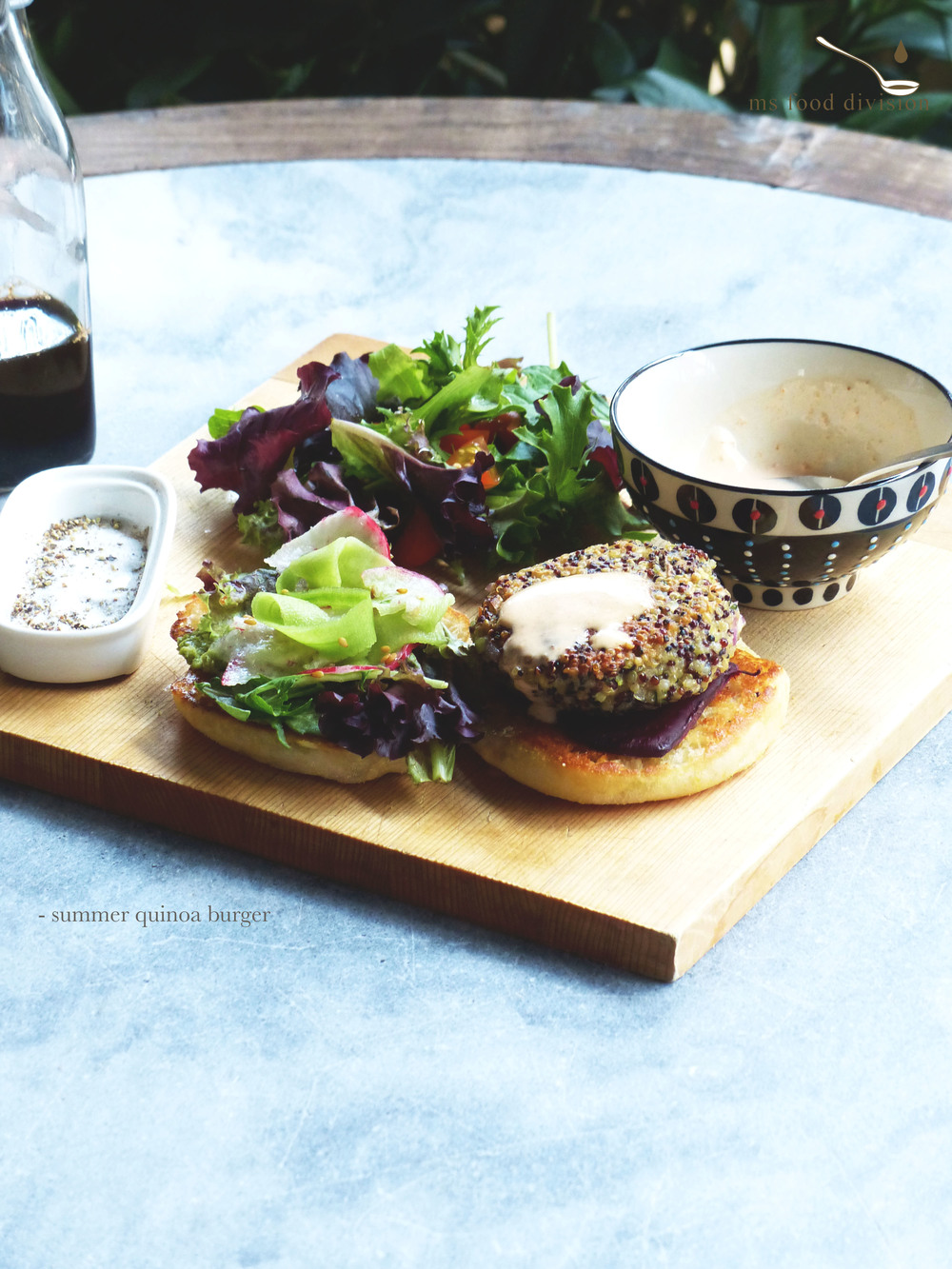 This light burger is perfect for the steamy hot summer.