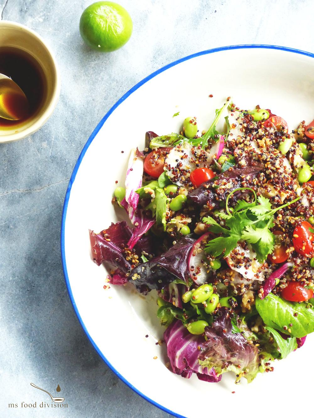 here is my extra-ordinary ordinary quinoa salad