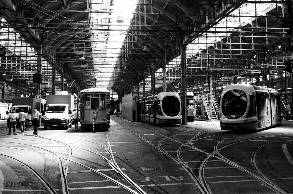 Milan Tram Station