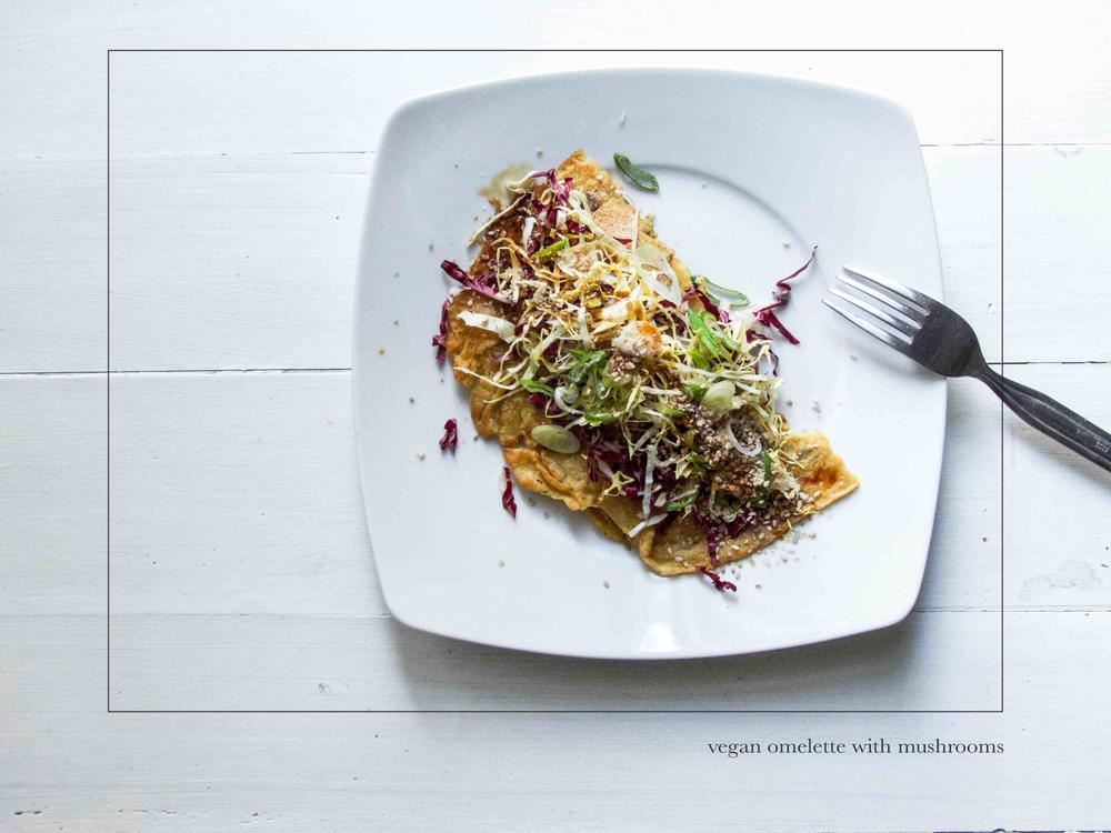 Vegan Omelette with Mushroom