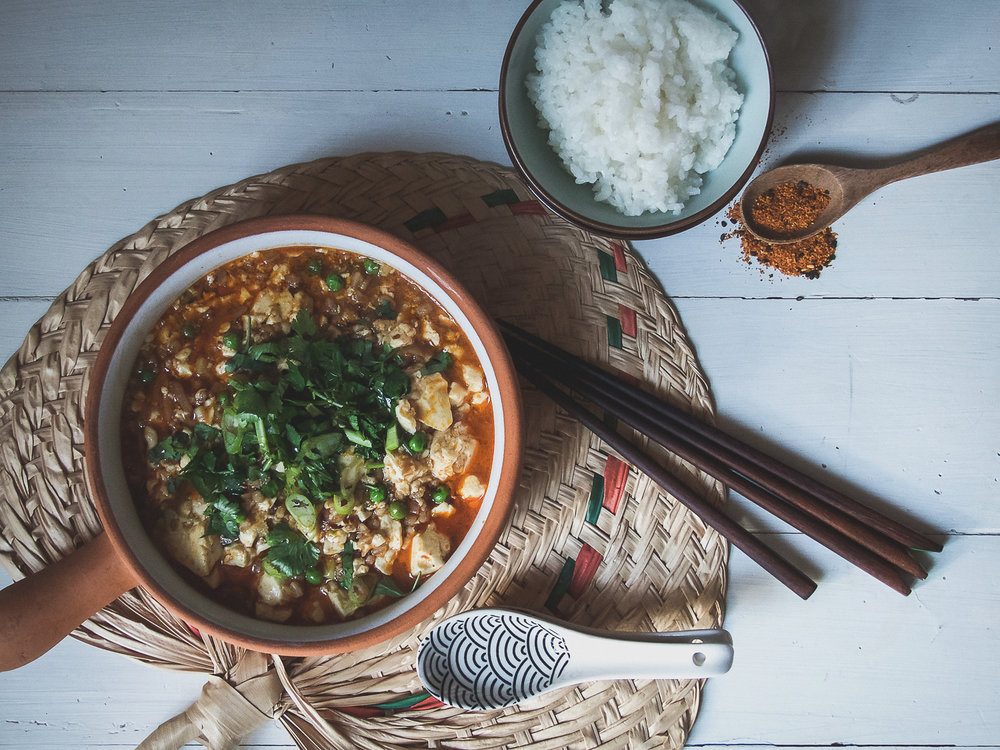 Mapo Tofu - vegan version