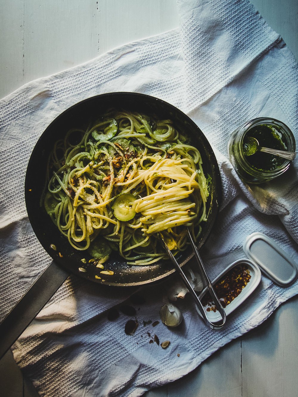 Zucchini Pasta with Almonds