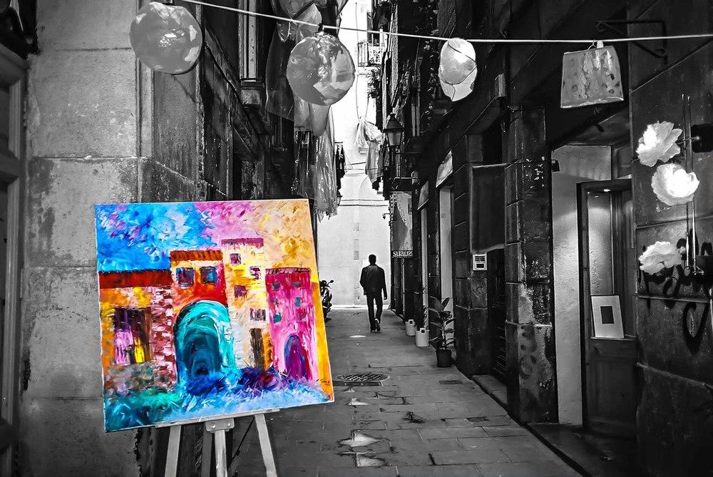 Backstreet in Barcelona