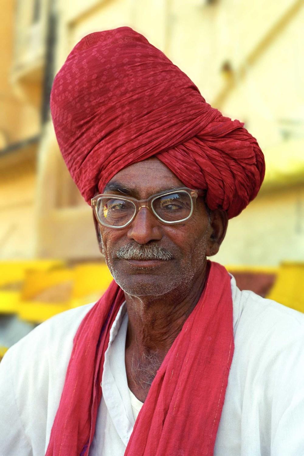 Spice seller at the Amber Fort, Jaipur