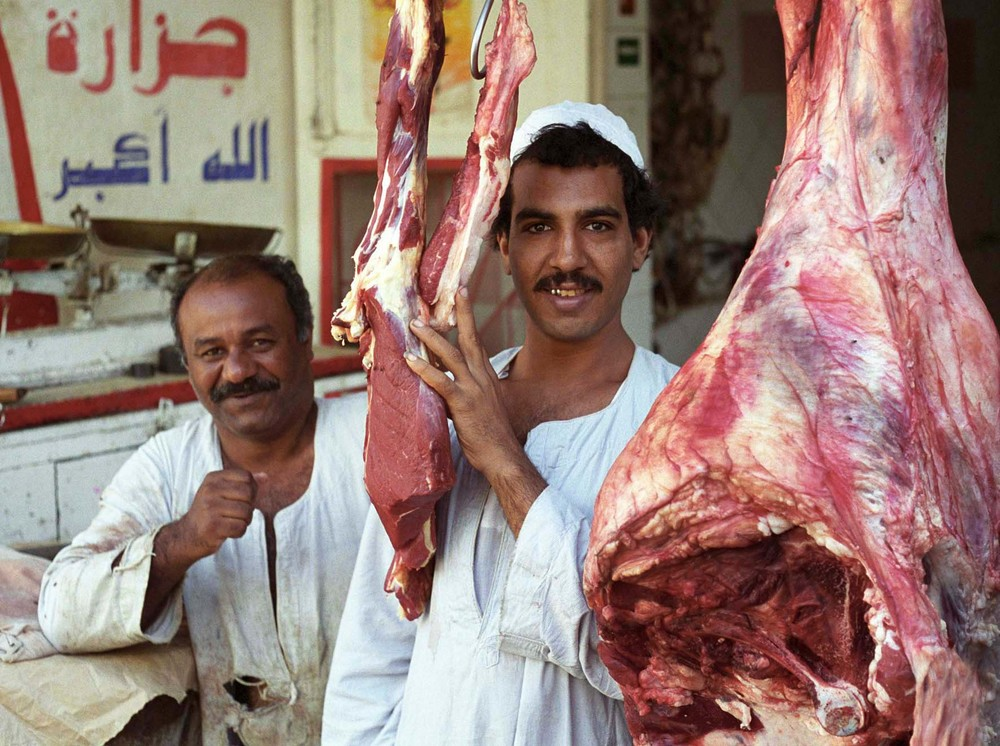 Meat market, Luxor,Egypt