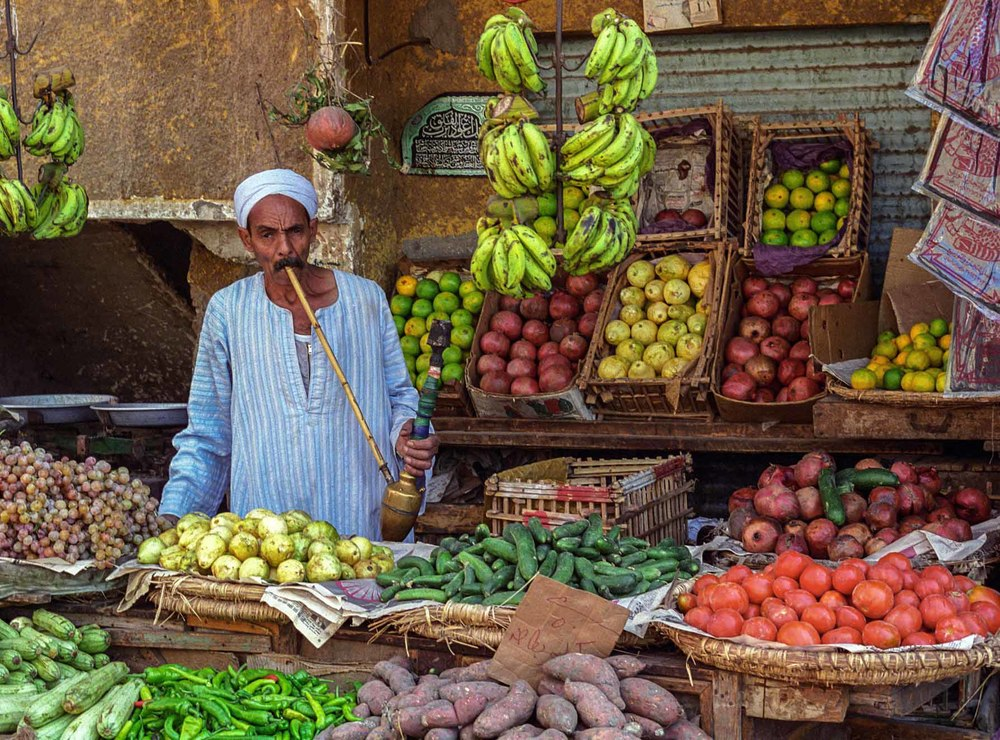 Fruit seller,Luxor, Egypt