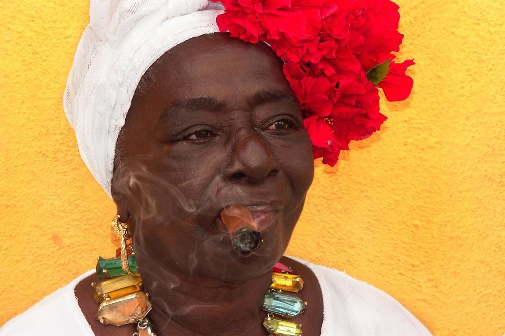 Cigar and flowers, Havana ,Cuba