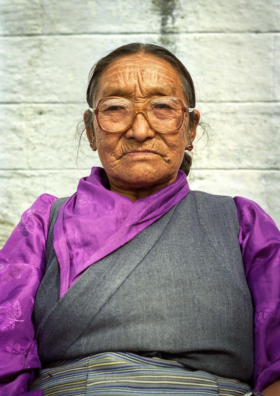 Lady in Darjeeling square, India