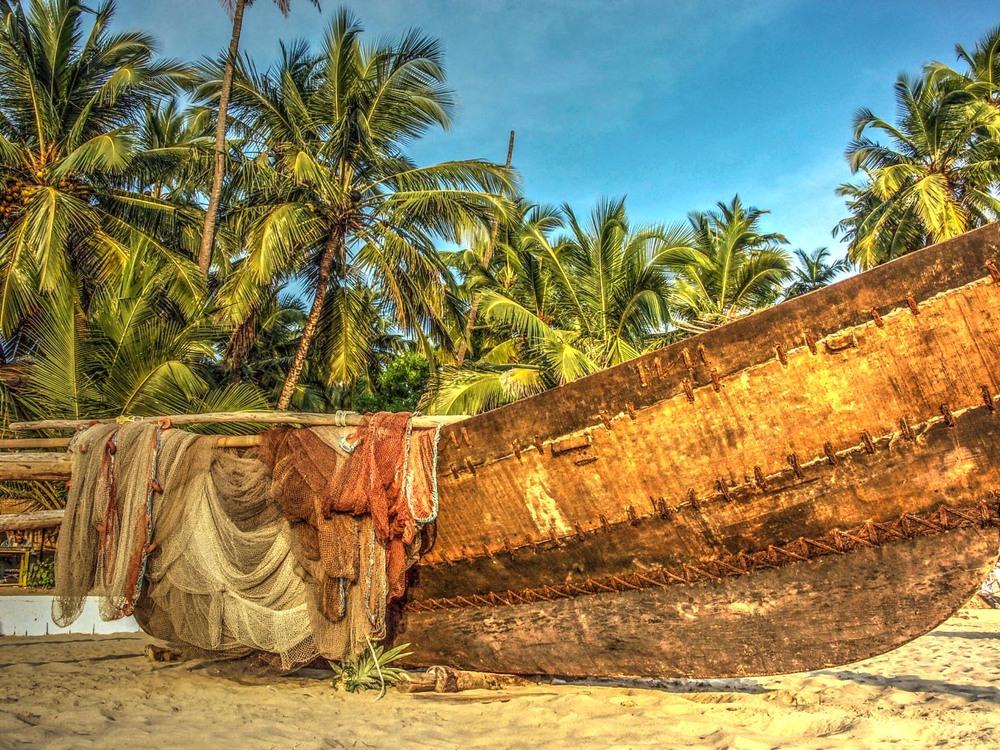 Fishing boat, Palolem beach, Goa