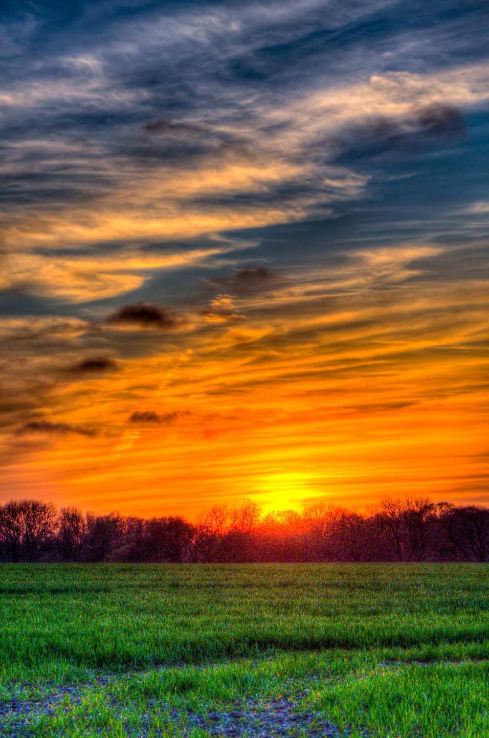 Sunset Meopham, Kent.