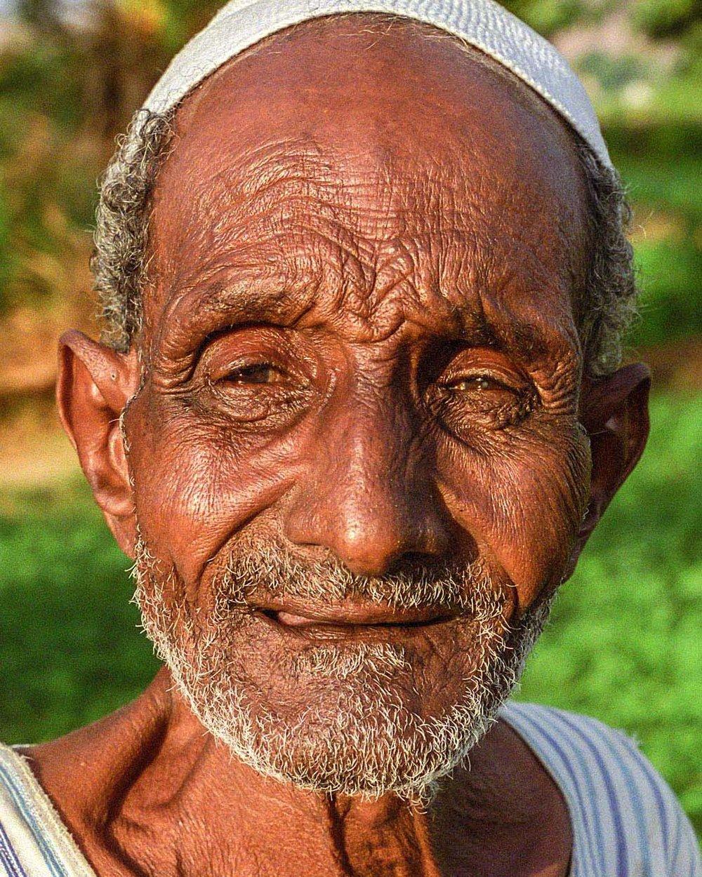 Elderly Nubian man Egypt