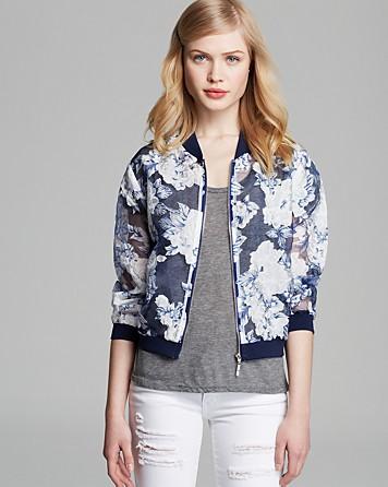 Lucy Paris Jacket - Floral Organza Bomber