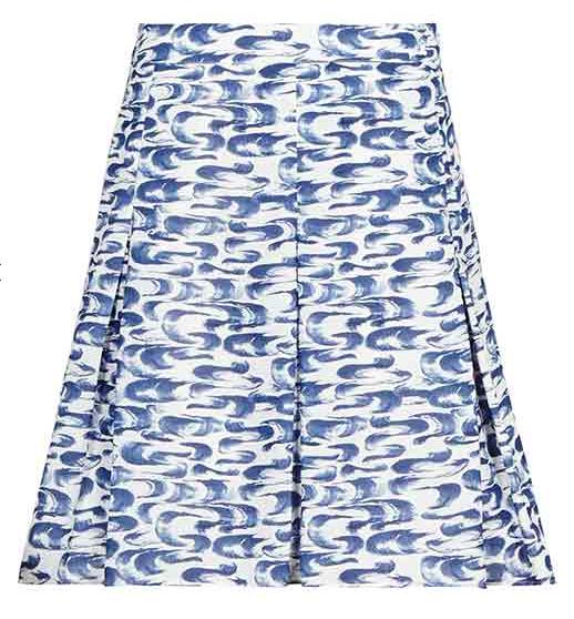 Reiss Stara Paintstroke Print Skirt